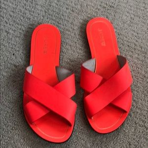 J. Crew bright orange slides